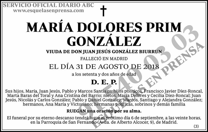 María Dolores Prim González